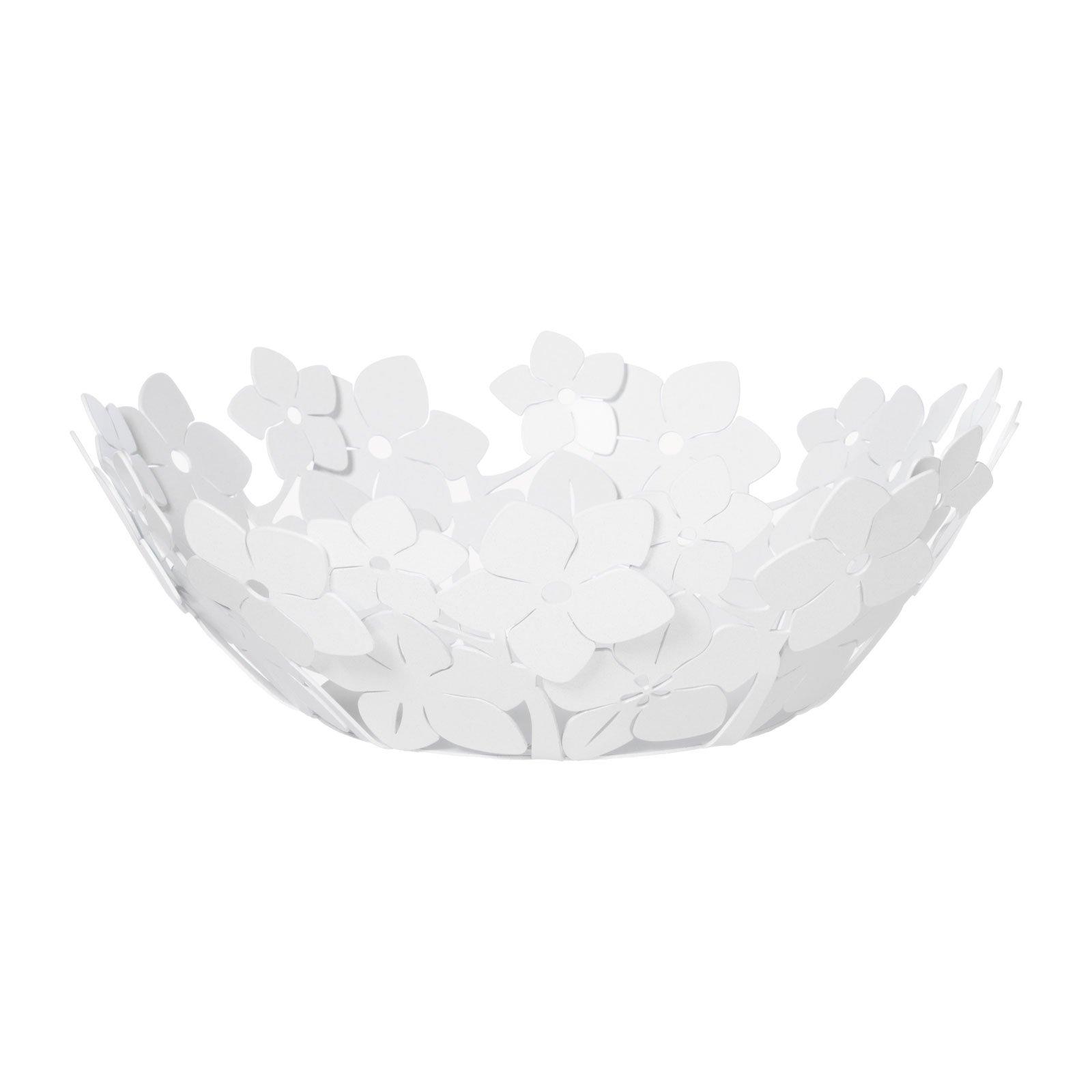 ARTI E MESTIERI Porta Tovaglioli Floreale in Verticale Fior di Loto Alto Bianco Marmo